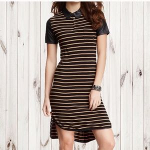 Romeo & Juliet Couture Striped Fitted Shirt Dress